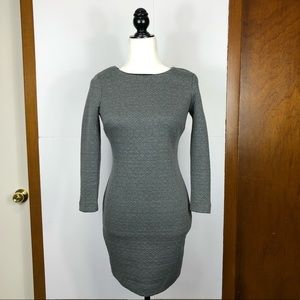 3/$30 Dynamite Long Sleeve Quilted Dress Sz S